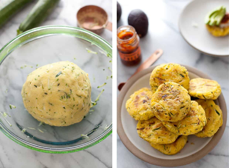 Zucchini Arepas - zucchini corn cakes