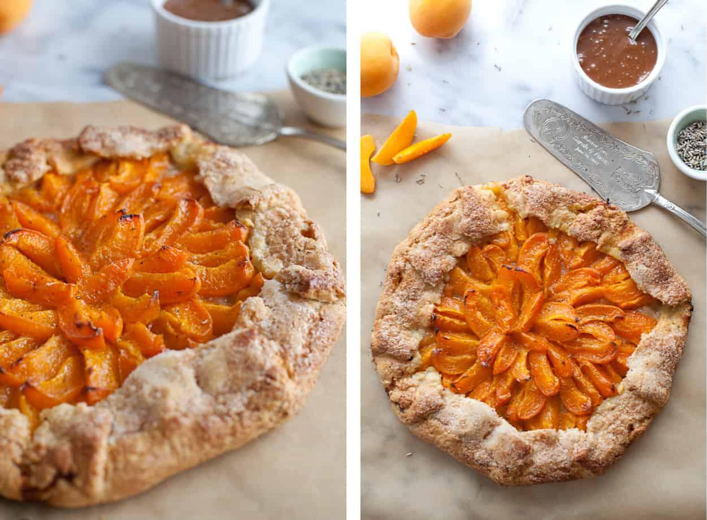 Lavender Gluten-free Apricot Galette