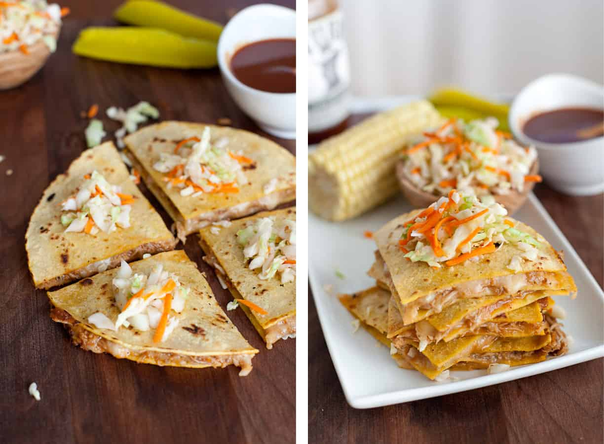 BBQ Pulled Pork Quesadillas with Stubb's