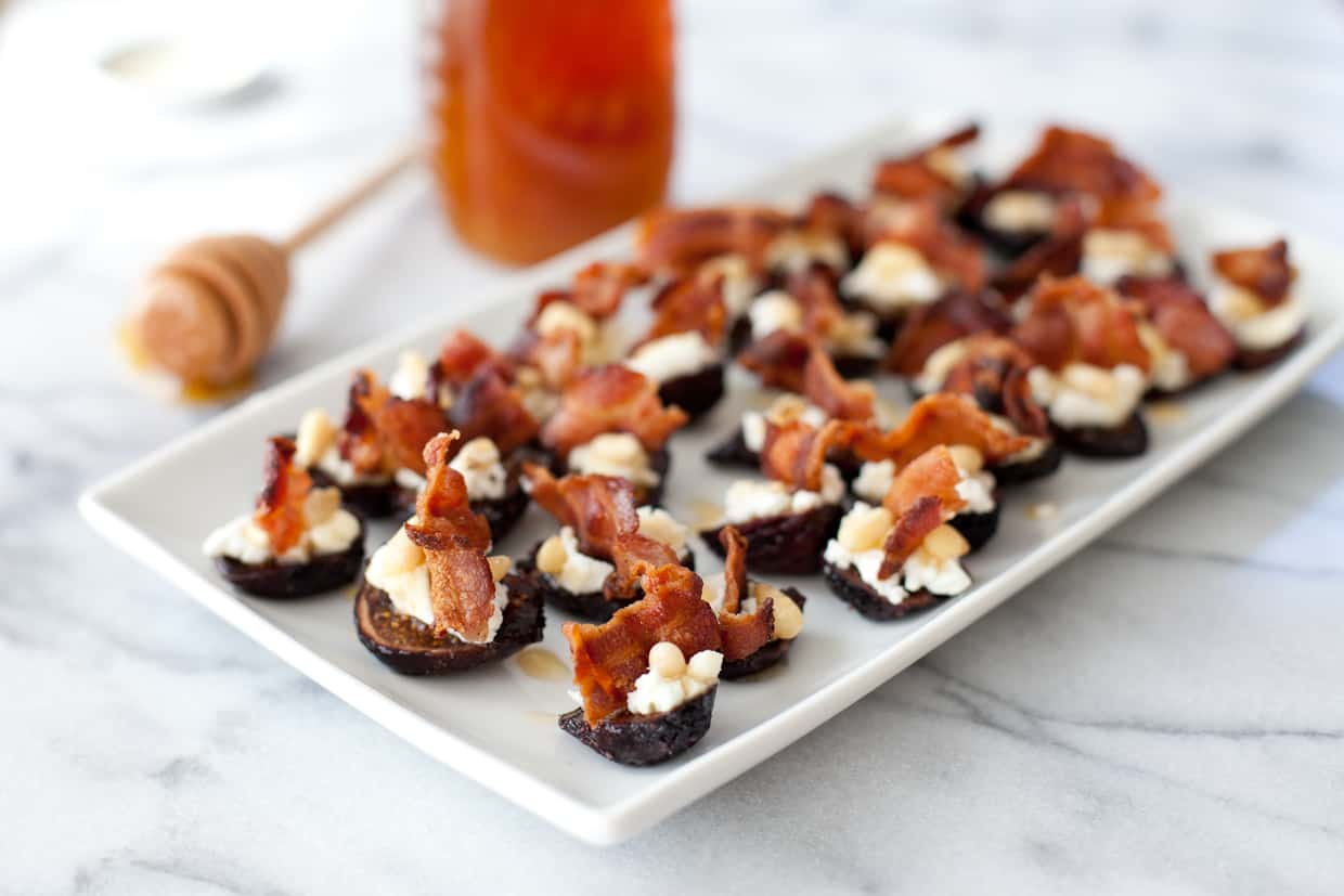 Goat cheese stuffed figs with pancetta - Snixy Kitchen