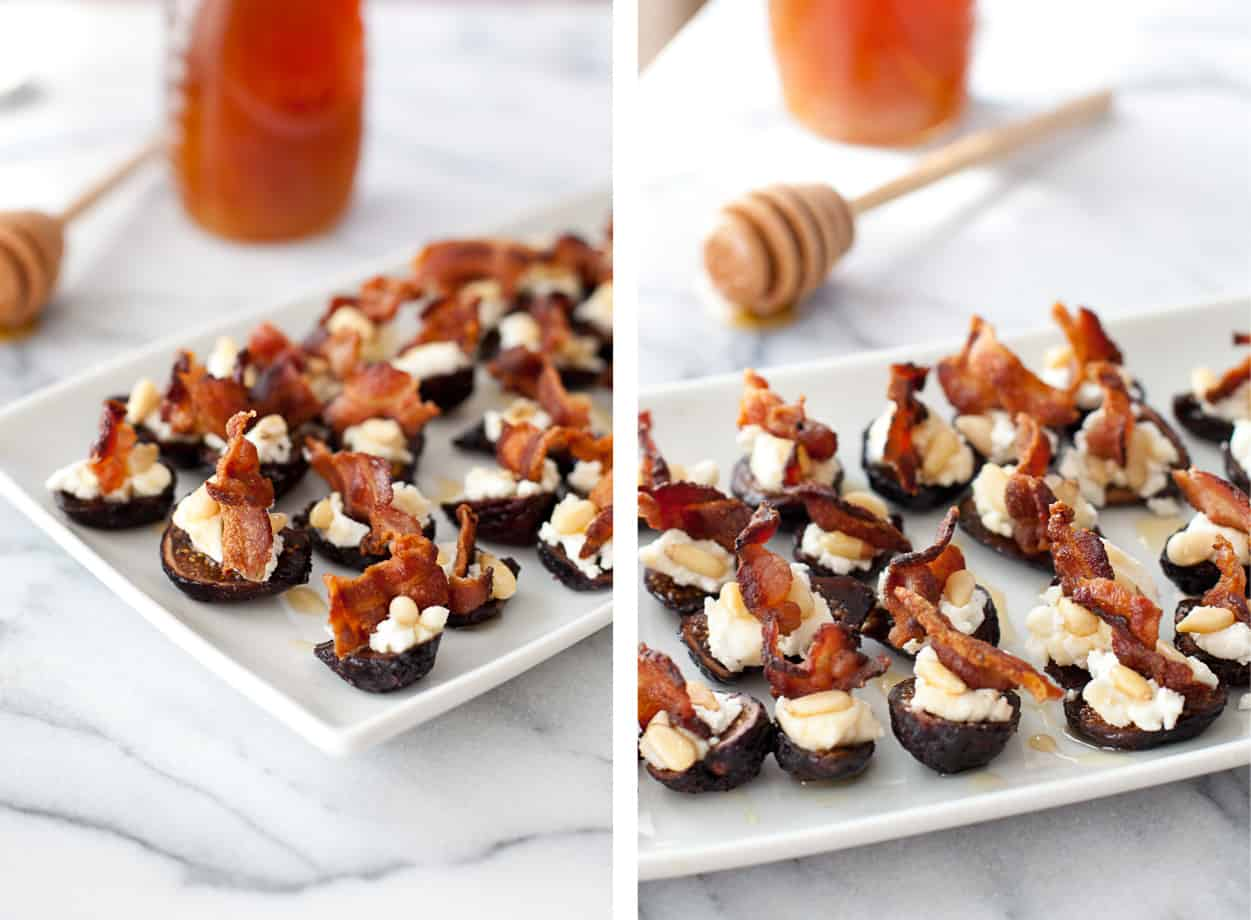 Goat Cheese Stuffed Figs with Honey