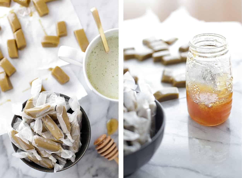 Matcha Green Tea Caramels & Latte