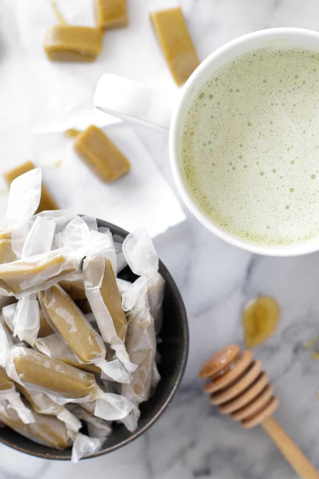 Matcha Green Tea Caramels