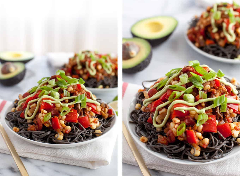 Gluten-free Southwestern Black Bean Spaghetti