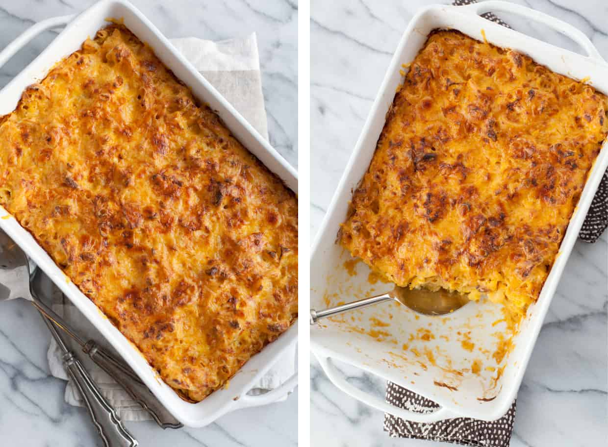 Baked Cauliflower Mac and Cheese