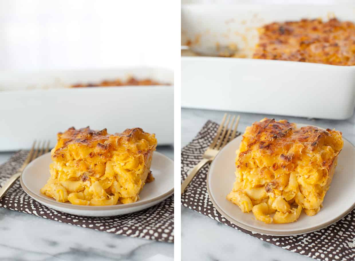 Cauliflower Macaroni and Cheese Slice