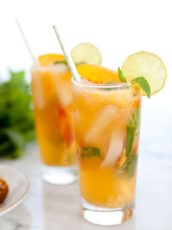 Ginger Peach Mojito Mocktail
