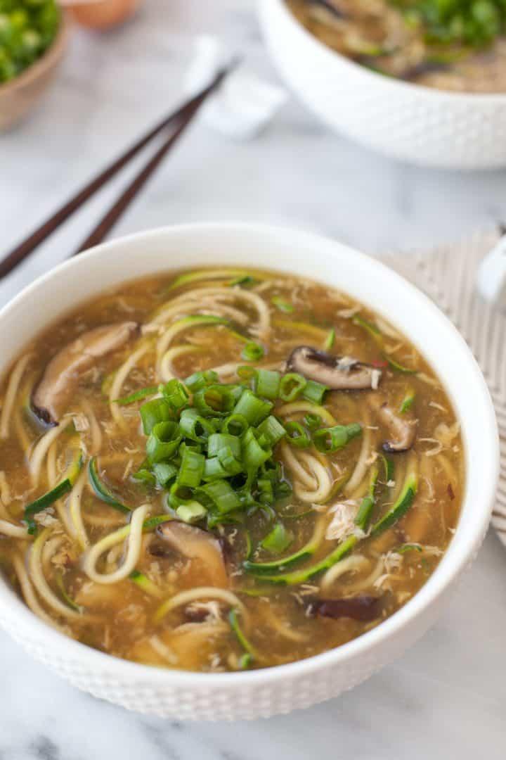 Zucchini Noodle Egg Drop Soup
