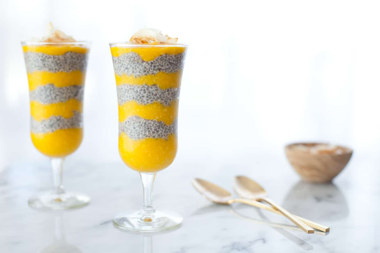 Tropical Mango Chia Seed Pudding
