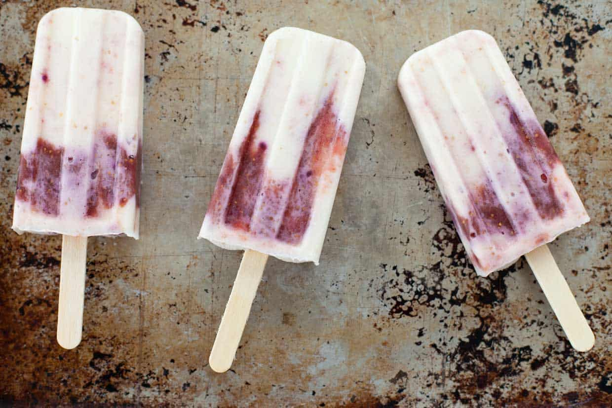 Honey Roasted Fig Popsicles