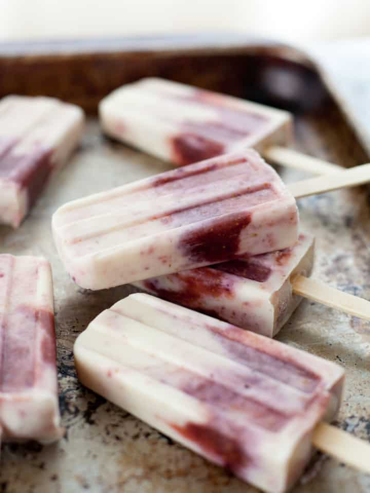 Fig and Goat Cheese Popsicles