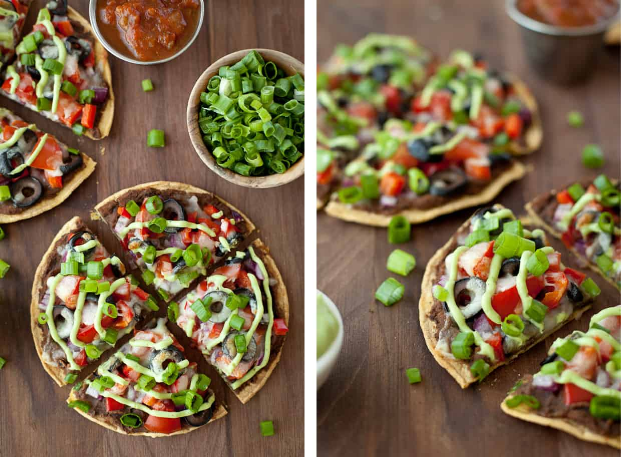 Skinny Mexican Pizzas