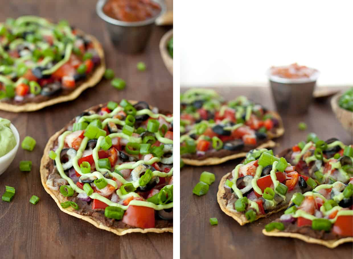Healthy mexican pizza