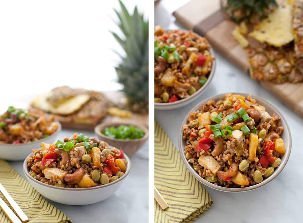 Pineapple Fried Rice with Cashews