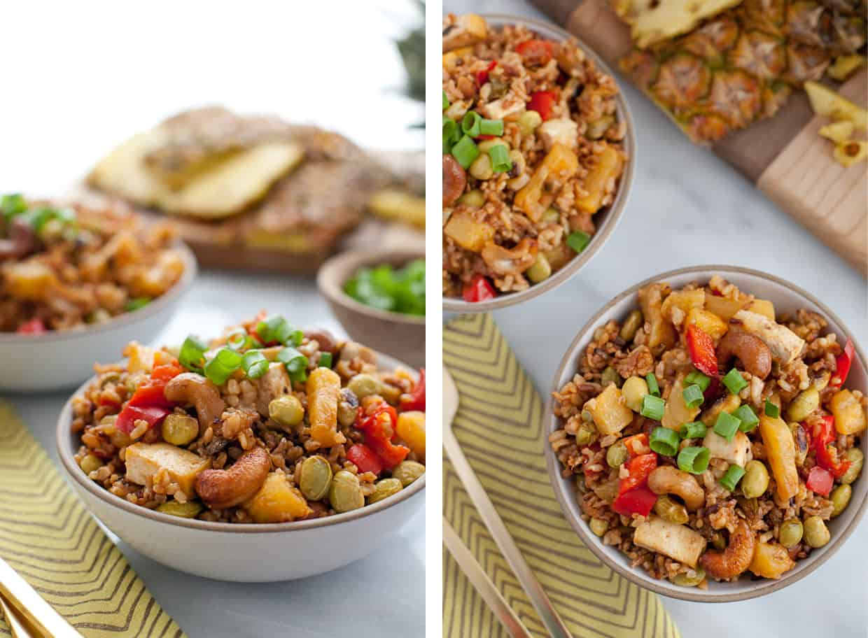 Oven-Baked Pineapple Fried Rice