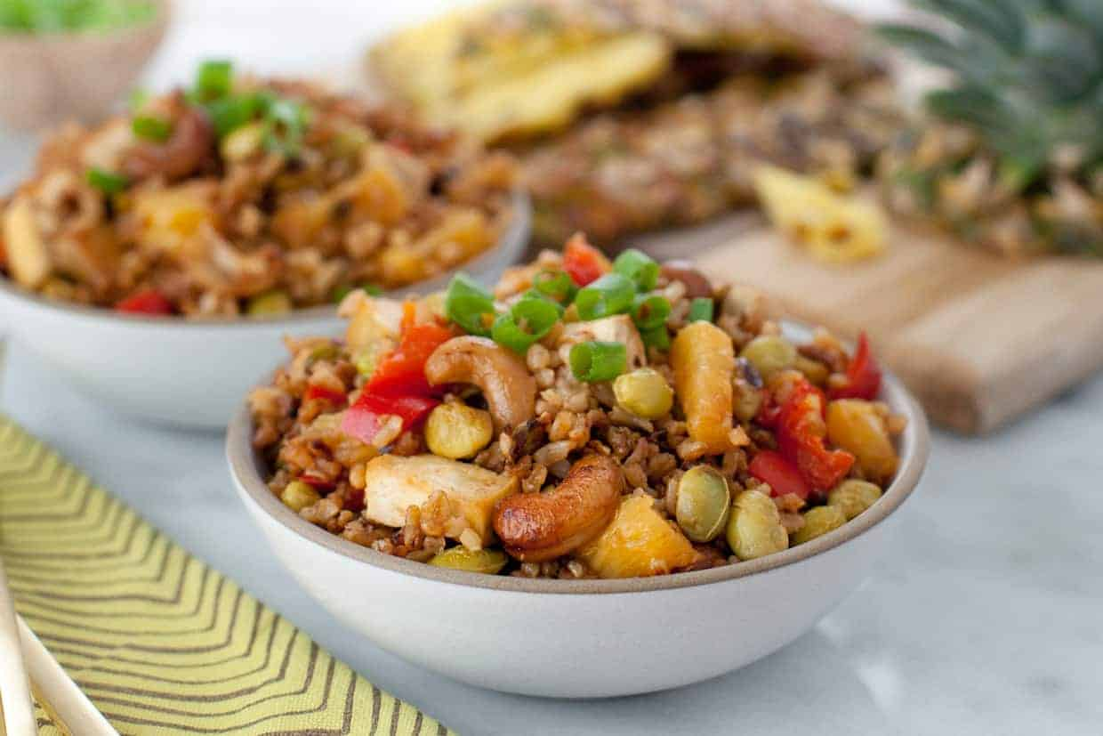 Baked Pineapple Fried Rice