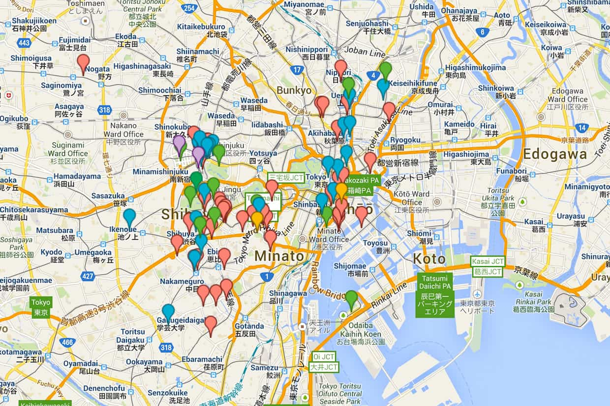Food Lovers Guide To Tokyo Snixy Kitchen Snixy Kitchen - Tokyo map for tourists