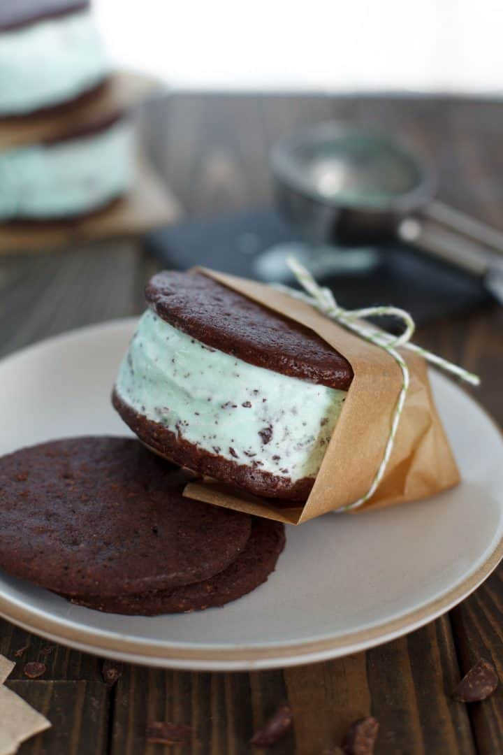 Mint Ice Cream Sandwiches