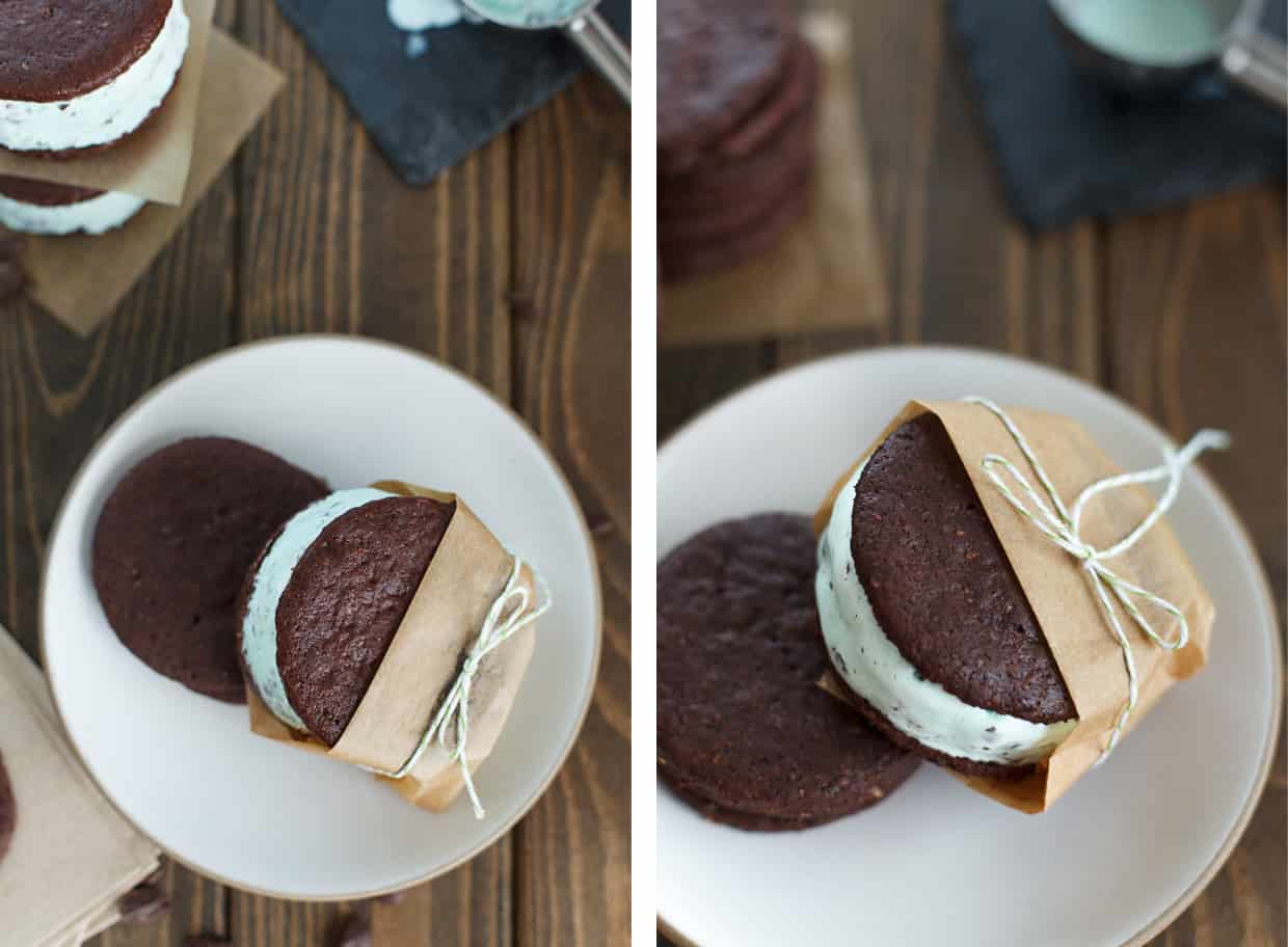 Double Mint Ice Cream Sandwiches