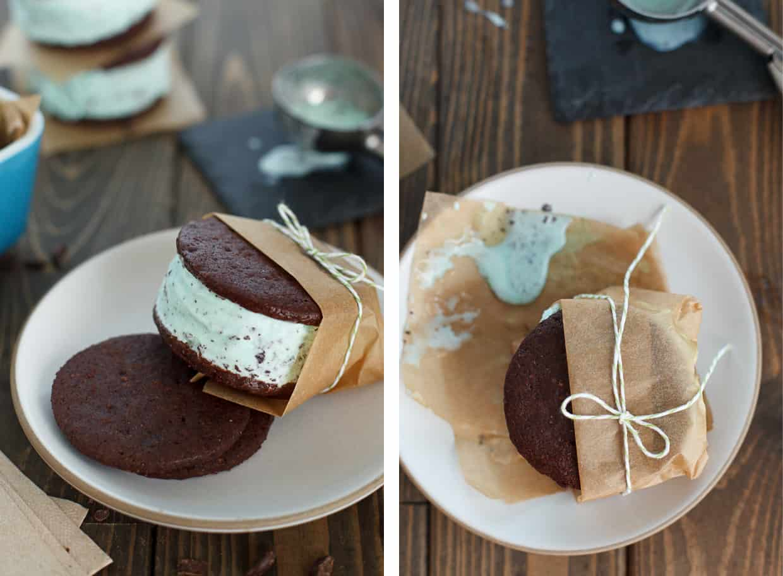 Recipe Mint Chocolate Chip Ice Cream Sandwich