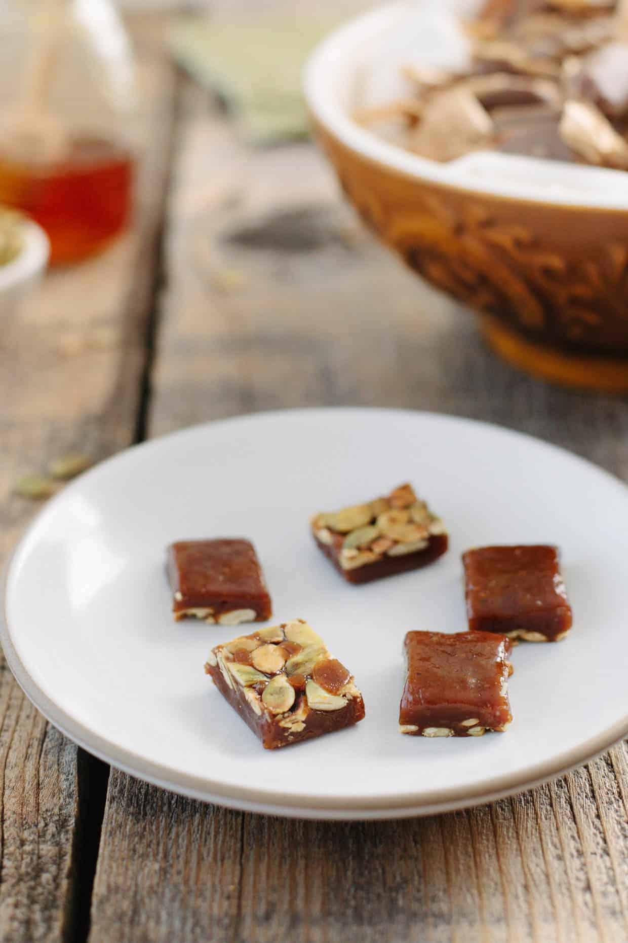 Honey Pumpkin Caramels - Snixy Kitchen - Snixy Kitchen