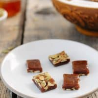 Honey pumpkin caramels