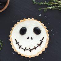 Halloween Jack Skellington Ricotta Olive Tarts