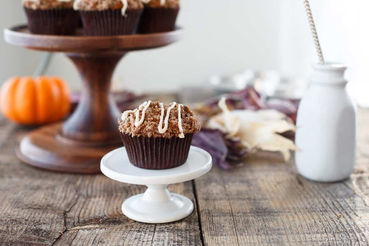 Pumpkin Muffins with Cinnamon Cream Cheese