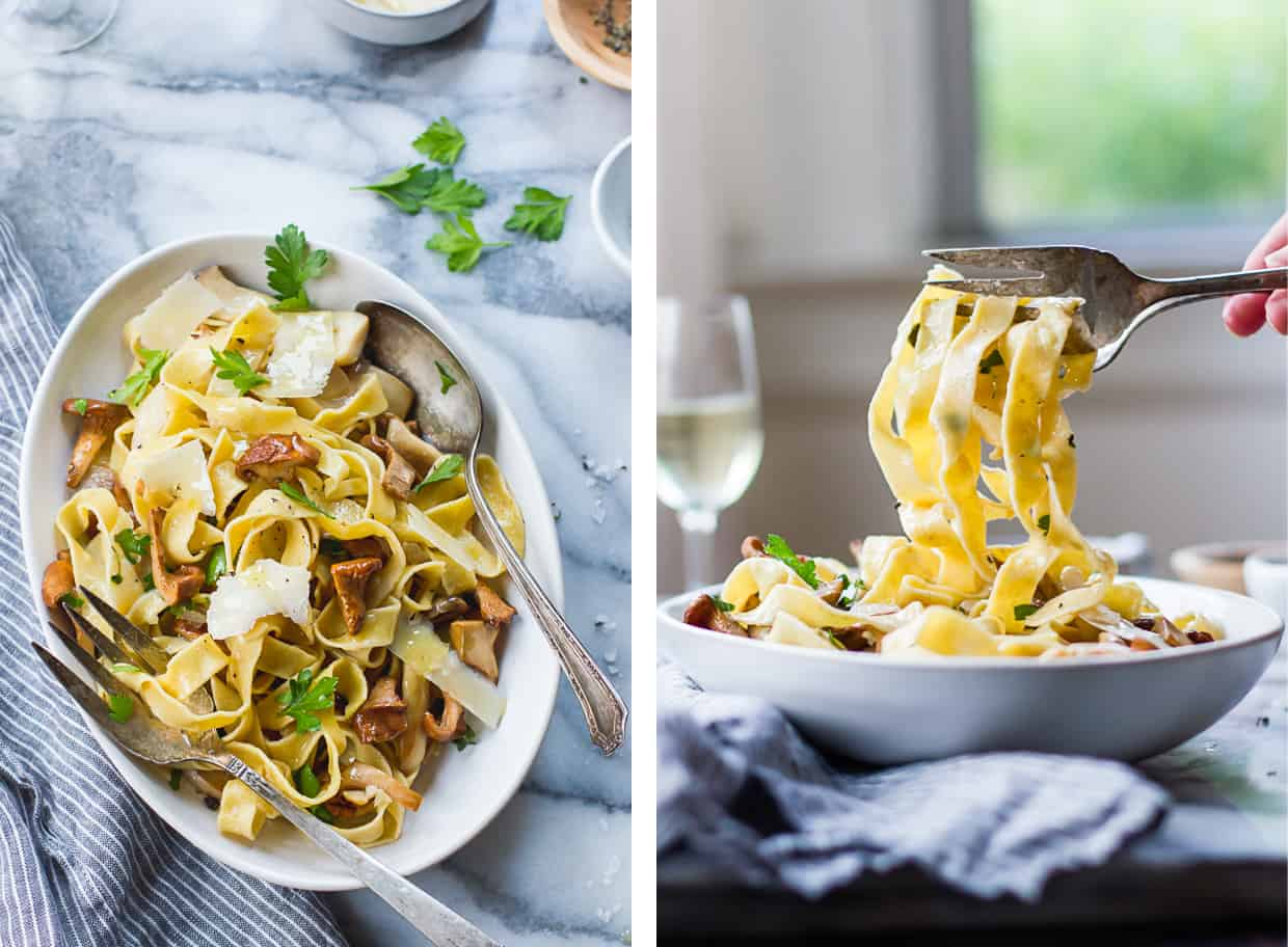 Chickpea Pasta with Mushrooms