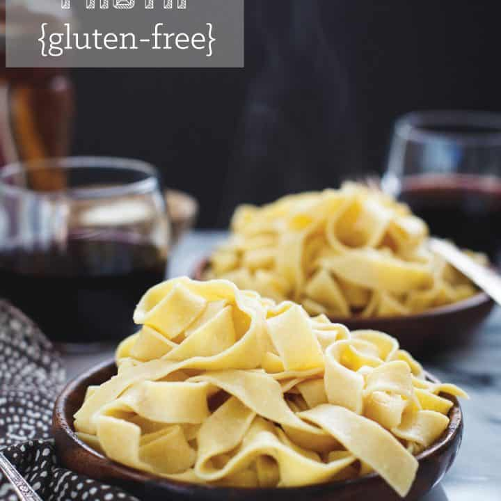 Homemade Gluten-Free Chickpea Pasta {a collaboration}