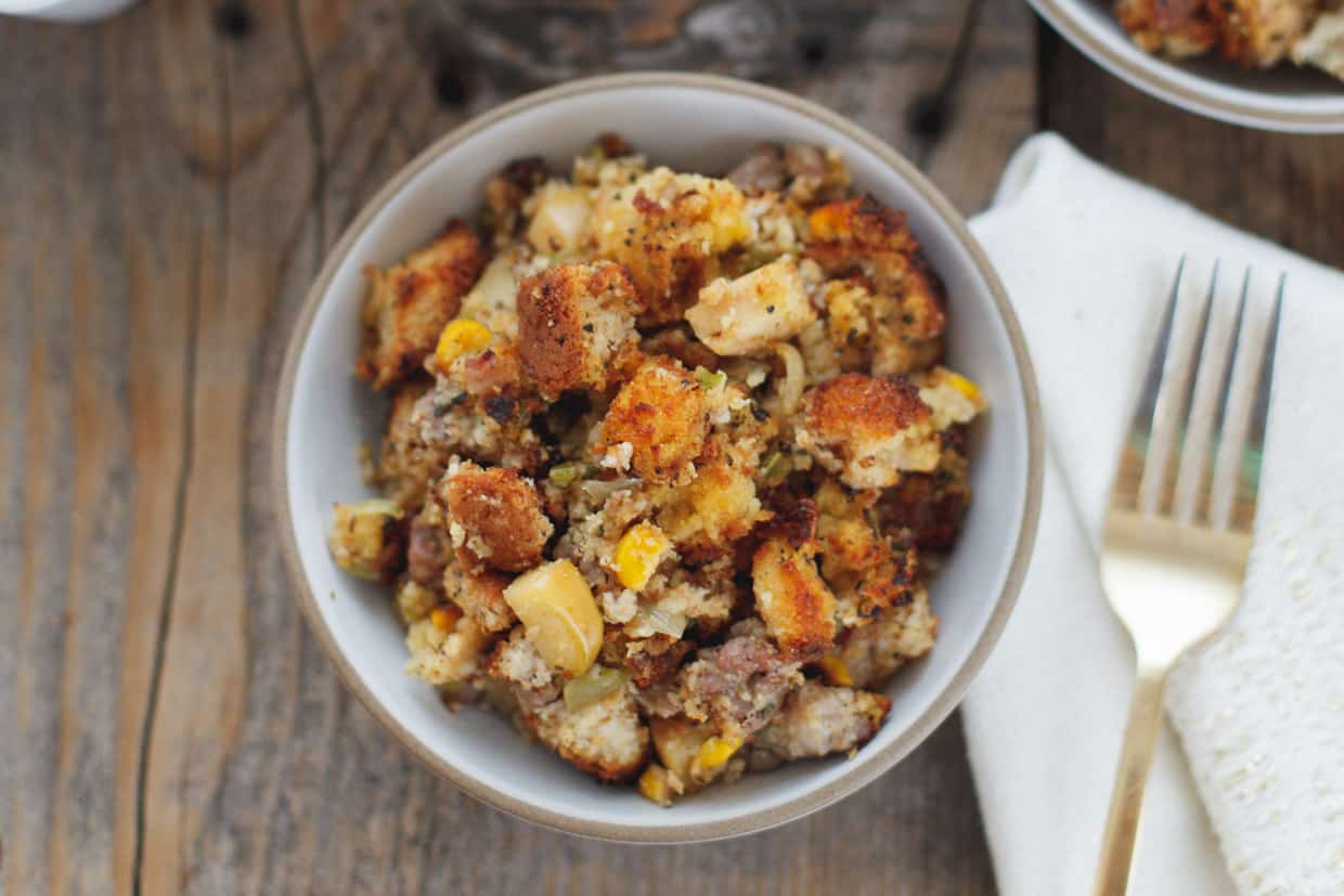 Cornbread And Apple Stuffing Recipe — Dishmaps
