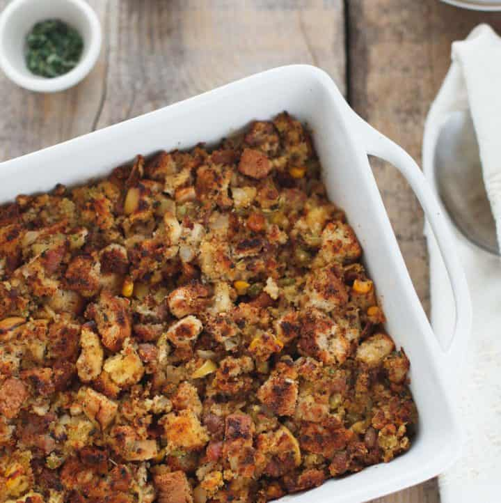 Sausage Apple Cornbread Stuffing