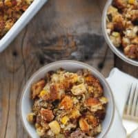 Sausage and Apple Cornbread Stuffing {gluten-free}