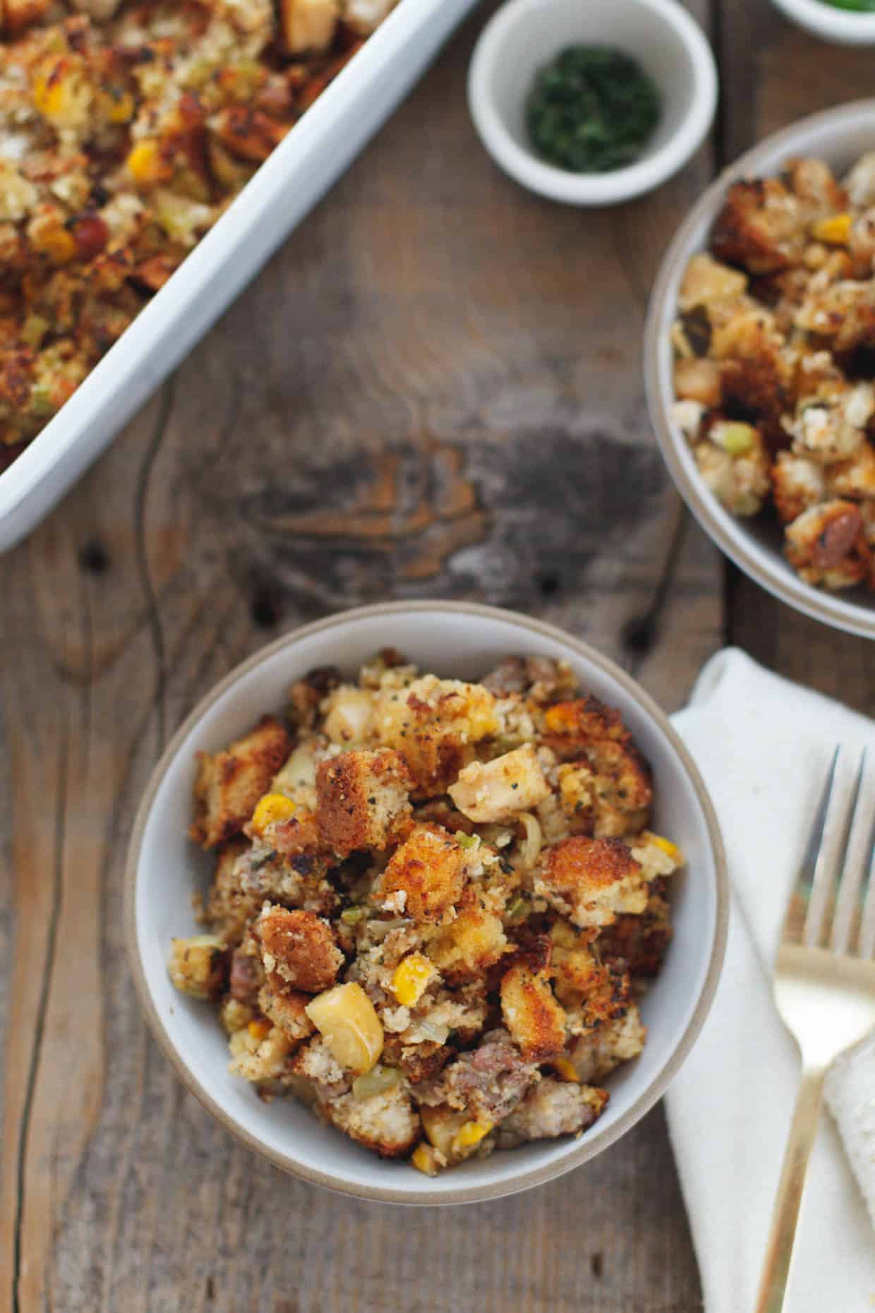 Apple & Sausage Cornbread Stuffing