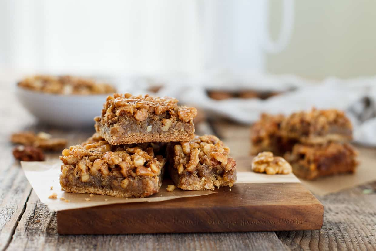 Maple Walnut Pie Bars