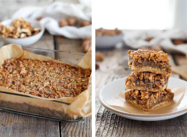 Gluten-free Maple Walnut Pie Bars