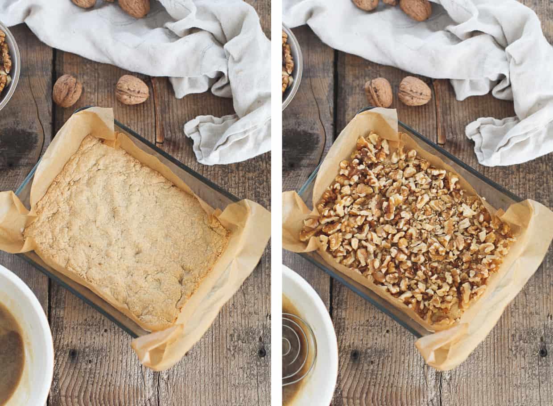 Gluten-free Walnut Shortbread Bars