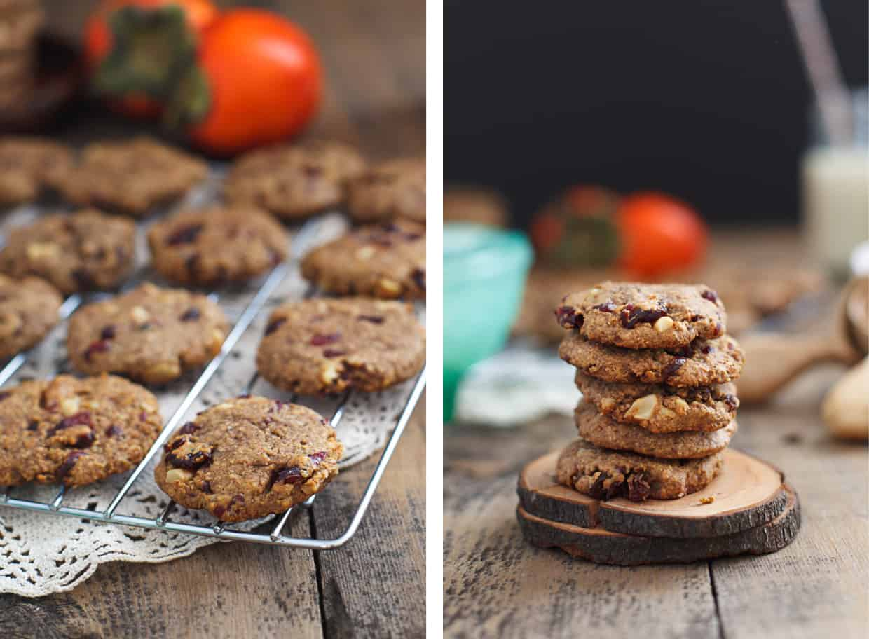 Persimmon Cookies with Cranberries