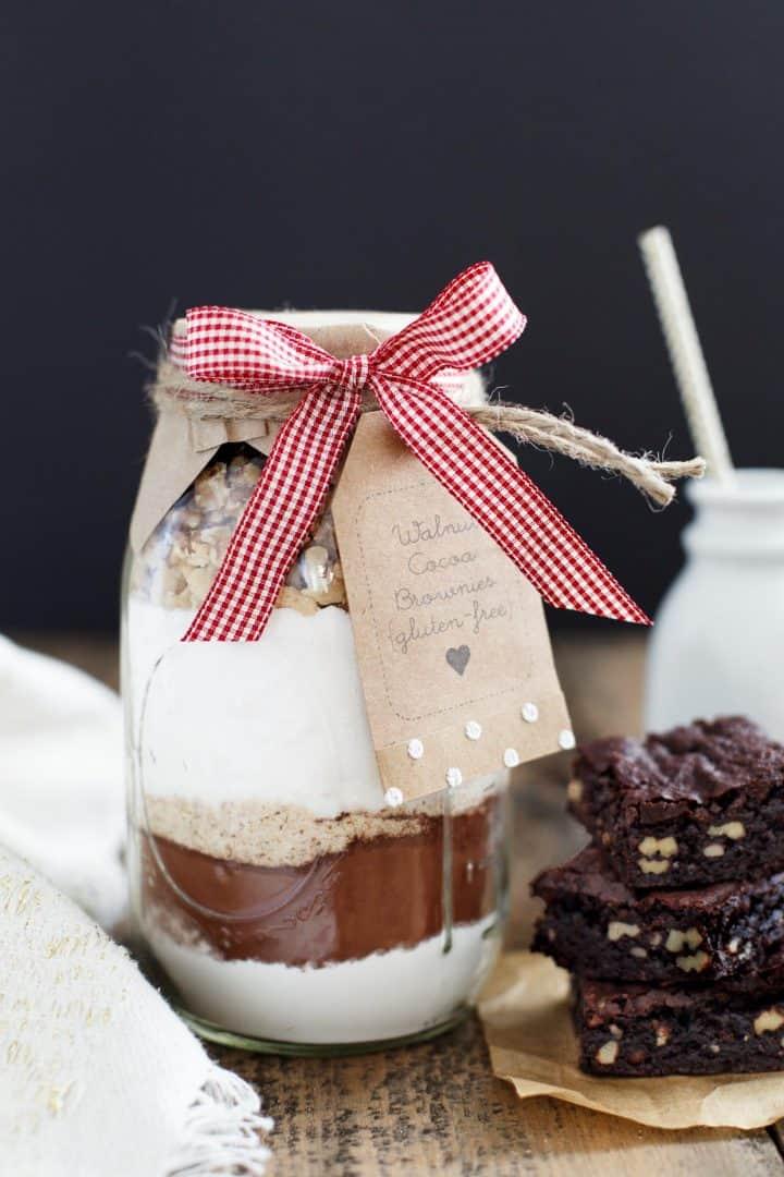 Gift in a Jar: Walnut Cocoa Brownies