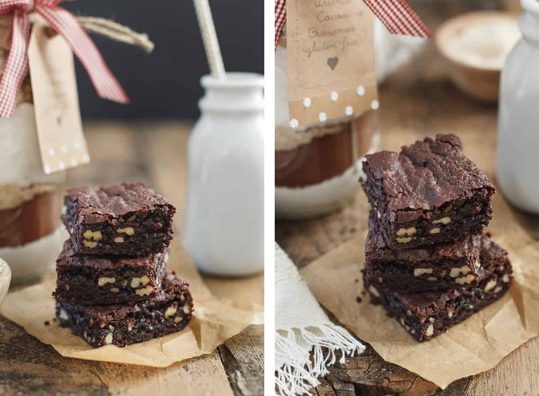 Walnut Brownie Gift in a Jar