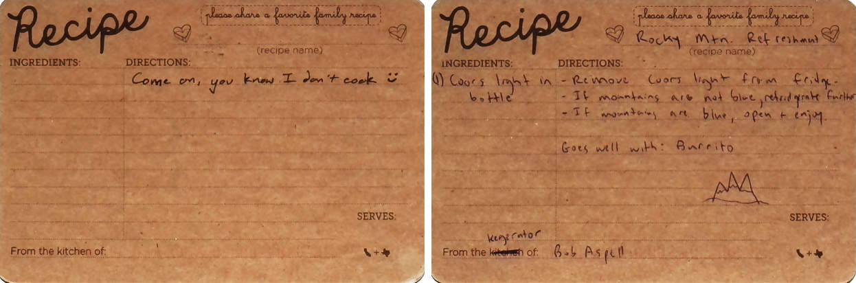 Funny RSVP Recipes