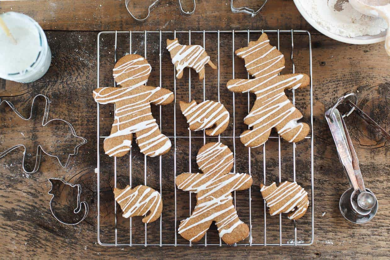 Lemon Iced Gingerbread Cookies