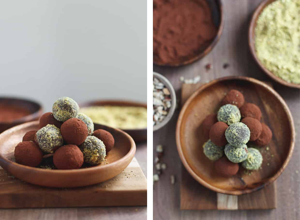 Healthy Nutella Truffles with Pistachio