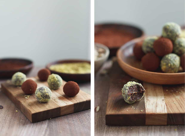 Healthy Cocoa Nutella Truffles