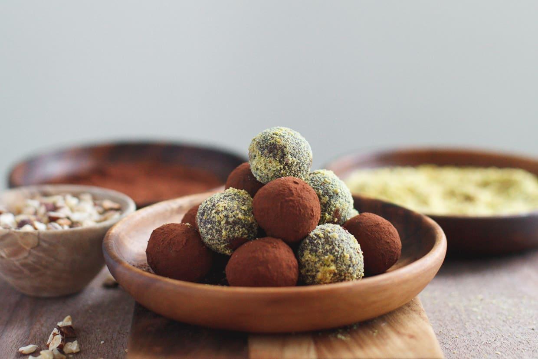 Nutella Pistachio Truffle Bites
