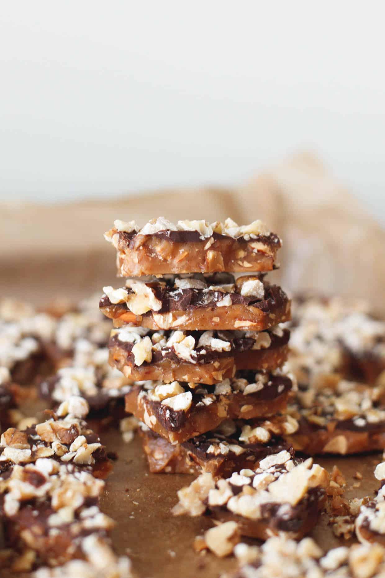 Chocolate Almond English Toffee
