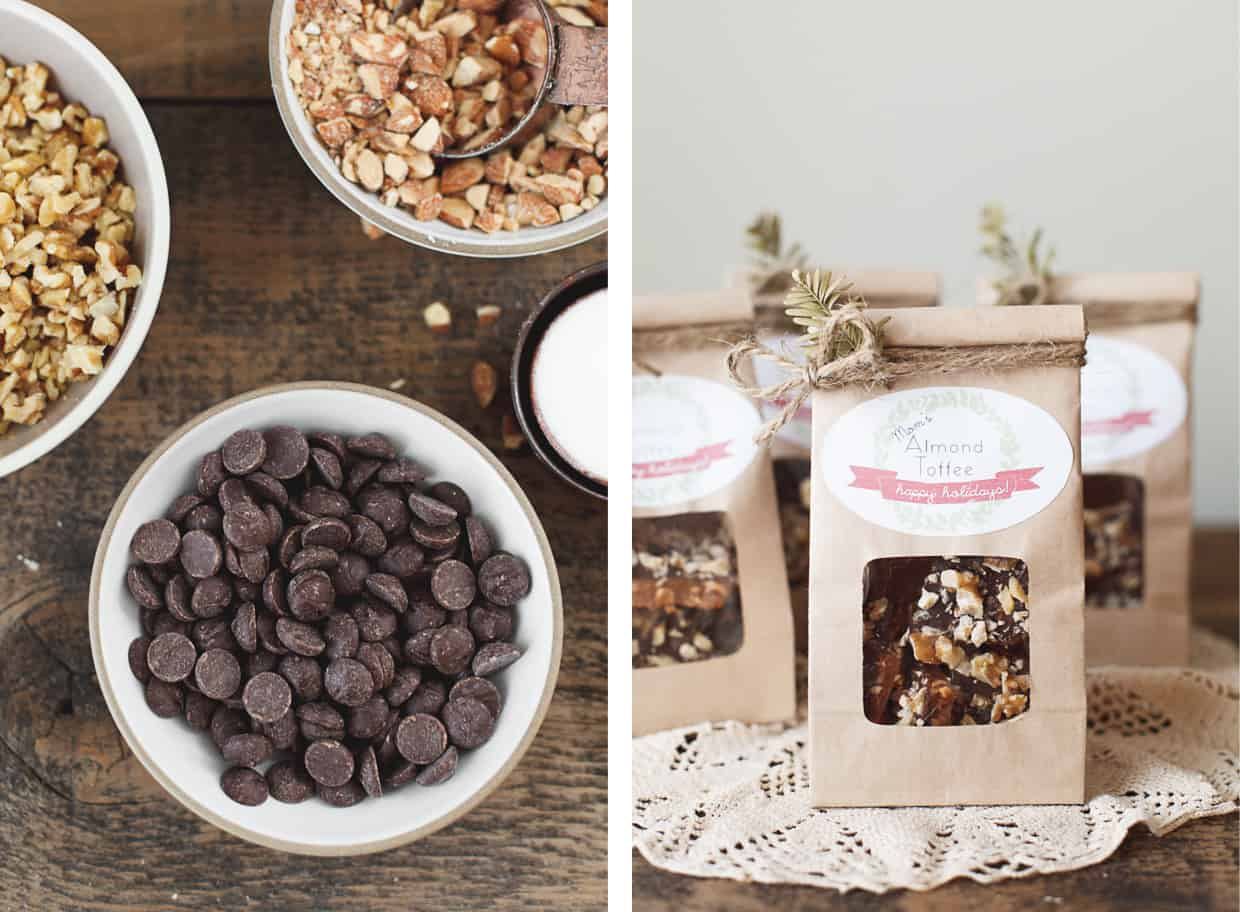 DIY Gift: Chocolate Almond Toffee