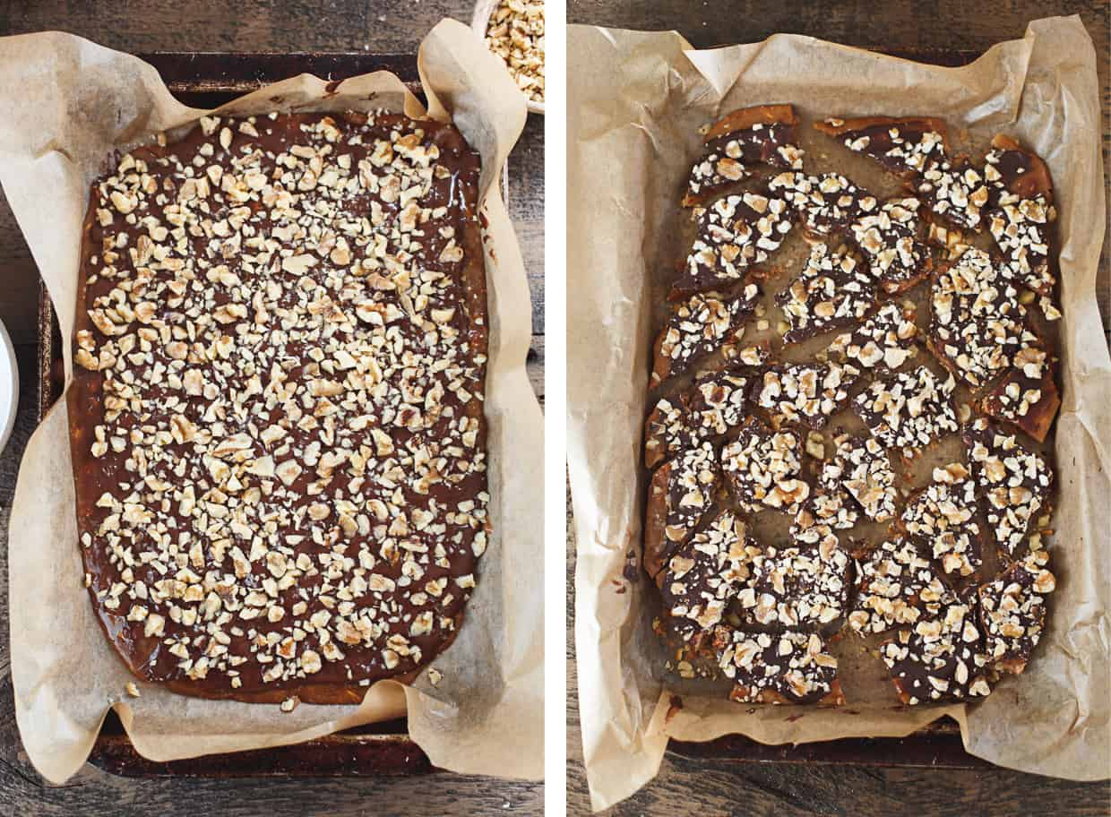 Chocolate Almond English Toffee with Walnuts