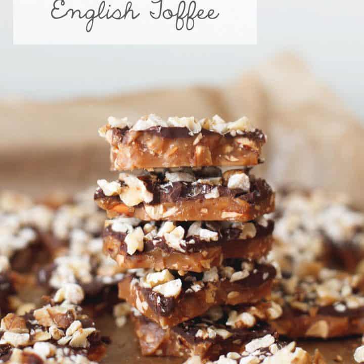 DIY Gift: Mom's Chocolate Almond English Toffee