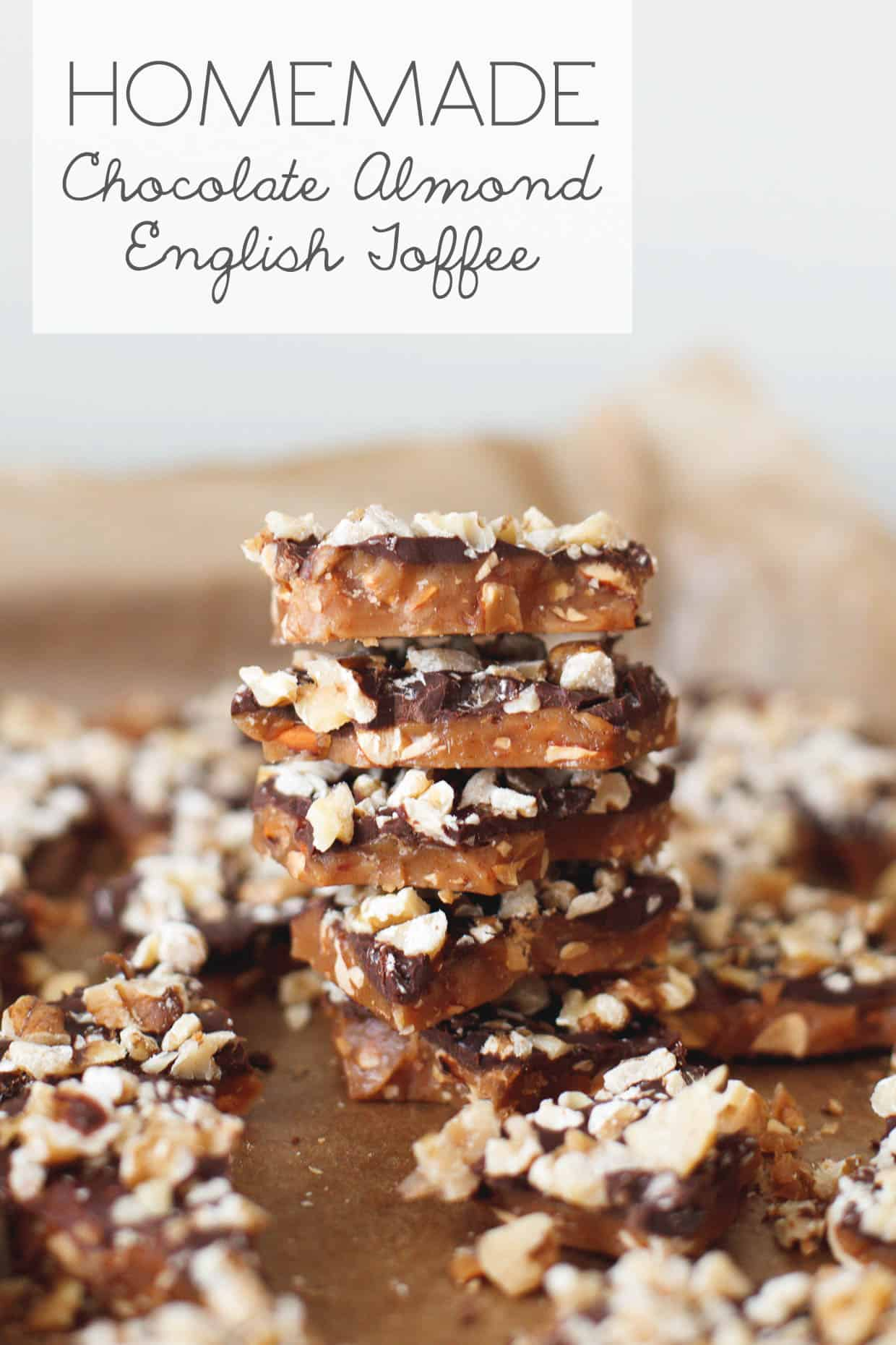 DIY Gift: Chocolate Almond English Toffee